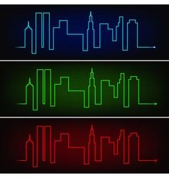City pulse vector image