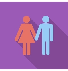 Couple sign vector image
