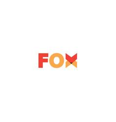creative fox word letter logo symbol design vector image