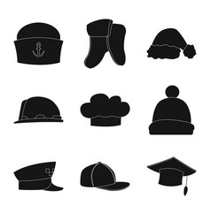 design of headwear and cap symbol set of vector image