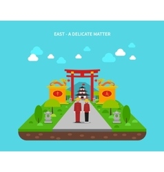East Concept vector