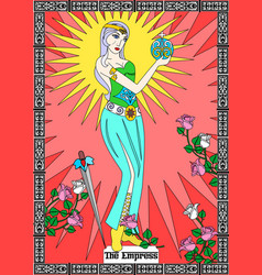 Empress card vector