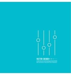 Equalizer musical bar vector