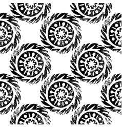 ethnic tribal native circle mandala hand drawn vector image