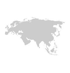 Eurasia continent gray template vector