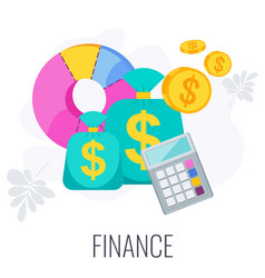Finance icon strategy management and marketing vector