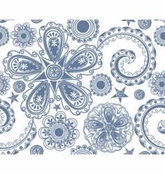 Floral geometric vector