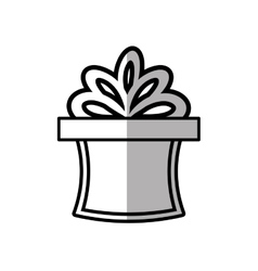 Gift box ribbon ornament celebration shadow vector