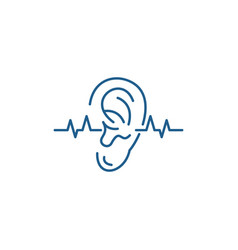 hearing test line icon concept hearing test flat vector image