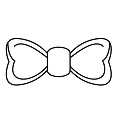 hipster bow tie icon outline style vector image