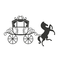 Horse equine carriage icon vector