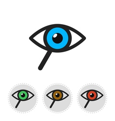 Icon of search consisting of a magnifier and eye vector