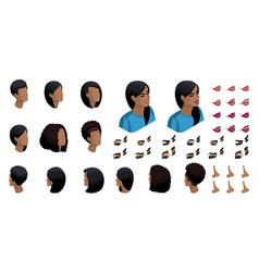 isometric create emotions african american woman vector image