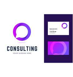 logo and business card template for consulting vector image