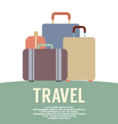 Many Luggage Travel Concept Vintage Style vector