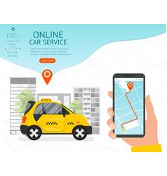 Online car service concept card landing web page vector