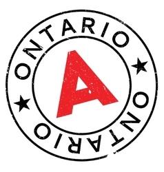 Ontario stamp rubber grunge vector