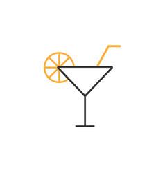 orange juice graphic design template vector image