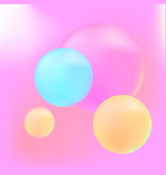 pastel 3d spheres vector image