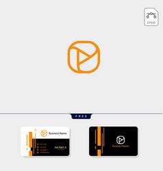 photography hexagon logo template business card vector image