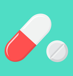 pills flat icon medicine and healthcare drug vector image