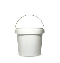 Plastic bucket 3d vector