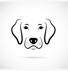 portrait of dog line art dog icon vector image