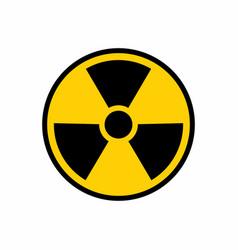 radioactive nuclear danger warning logo symbol vector image