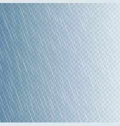 Rain drops on transparent background falling vector
