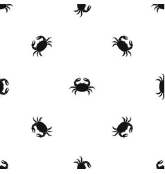 raw crab pattern seamless black vector image