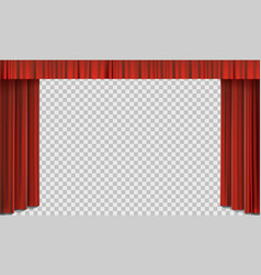 Red cinema curtain on stage vector