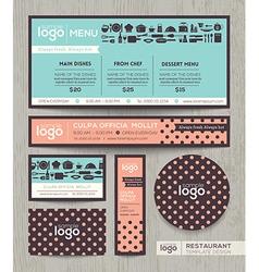 Restaurant cafe menu template polka dot pattern vector image