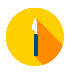 scalpel circle icon vector image