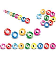Set of bingo balls vector