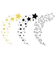 set shooting stars collection stars vector image
