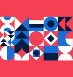 Simple geometric pattern bright color vector