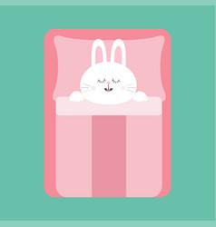 sleeping rabbit bunny bapet animal collection vector image
