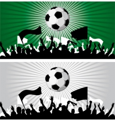 soccer ball on grunge background vector image vector image