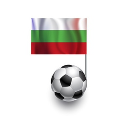 Soccer Balls or Footballs with flag of Bulgaria vector image vector image