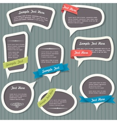 Speech bubbles in vintage style vector image