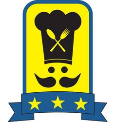Star chef symbol vector image