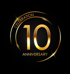 Template 10 years anniversary vector
