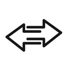 two arrows pointing in different directions line vector image