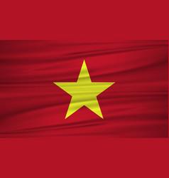 vietnam flag flag of vietnam blowig in the wind vector image