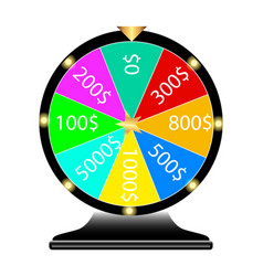 wheel of fortune lottery vector image