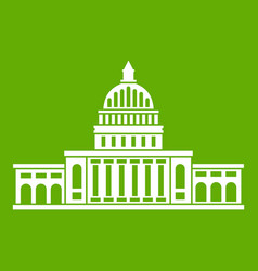white house icon green vector image