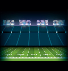 American football stadium and field background vector