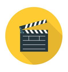 Clapper board flat icon vector image vector image