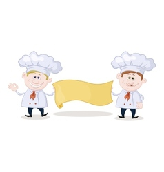 Cooks with poster vector image vector image