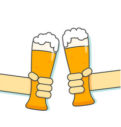 hand hold glass beer vector image vector image
